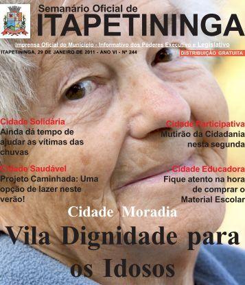 Cidade Moradia - Prefeitura Municipal de Itapetininga - Governo do ...
