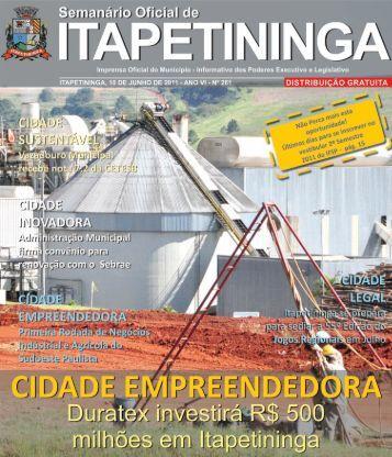 cidade empreendedora - Prefeitura Municipal de Itapetininga