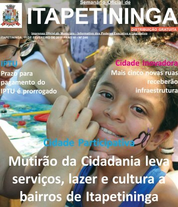 Semanário Oficial de Itapetininga - Prefeitura Municipal de ...