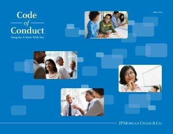 Access the JPMorgan Chase Code of Conduct PDF