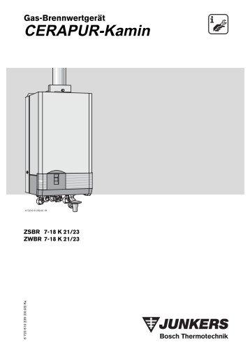 CERAPUR-Kamin - Junkers Kundendienst
