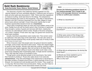 Cross curricular reading comprehension worksheets e 11 of 36