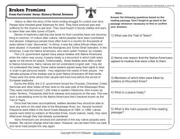 Cross curricular reading comprehension worksheets c 28 of 36
