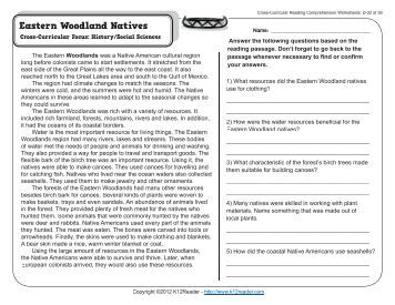 Cross curricular reading comprehension worksheets d 25 of 36