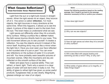Cross curricular reading comprehension worksheets d 22 of 36