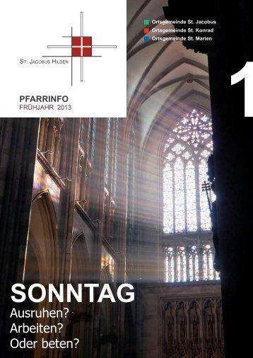 SONNtAg - Katholische Pfarrgemeinde St. Jacobus. Hilden