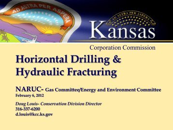 Horizontal Drilling & Hydraulic Fracturing - Kansas Corporation ...