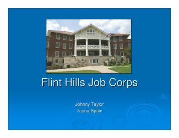 Flint Hills Job Corps - Kansas Corporation Commission