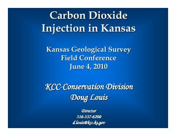 Carbon Dioxide Injection in Kansas - Kansas Corporation Commission