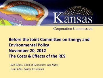 Your Presentation Title here - Kansas Corporation Commission