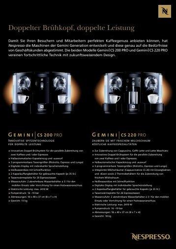 187760-Fiche gemini sheet OOH De:fiche gemini ... - Nespresso
