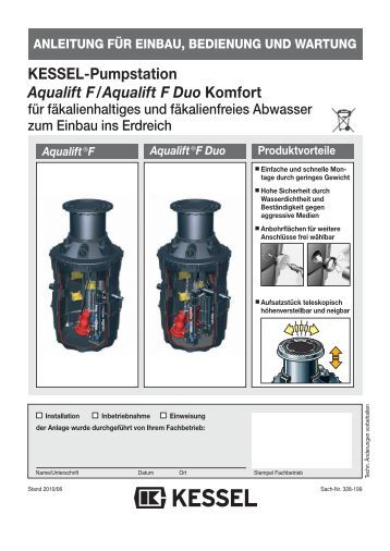 kessel hebeanlage aqualift f xl mono duo. Black Bedroom Furniture Sets. Home Design Ideas