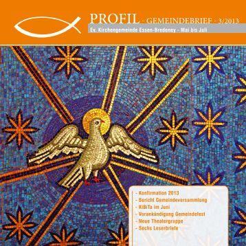Profil- GEMEiNDEBriEf - 3/2013 - Ev. Kirchengemeinde Essen ...
