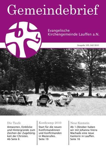 Gemeindebriefs Juli 2010 - Ev. Kirchengemeinde Lauffen