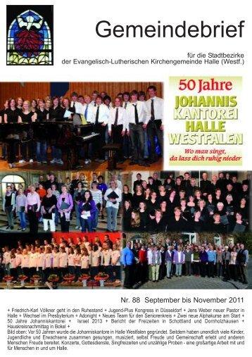 Gemeindebrief - Ev.-Luth. Kirchengemeinde Halle Westfalen