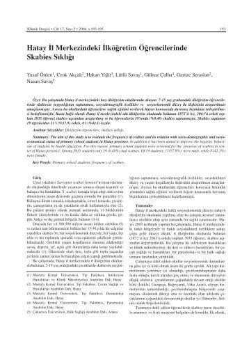 PDF - Klimik Dergisi