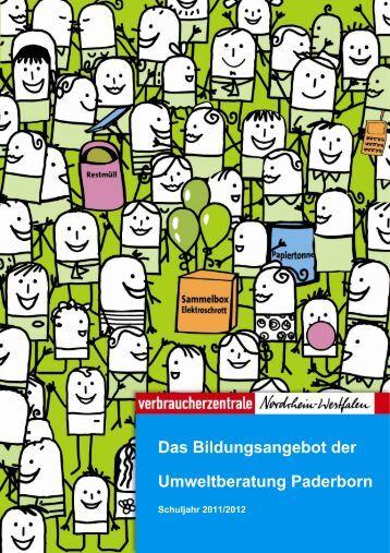 Bildungsangebot-der-Umweltberatung-2012 - Kreis Paderborn