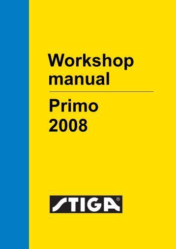 Workshop manual Primo 2008