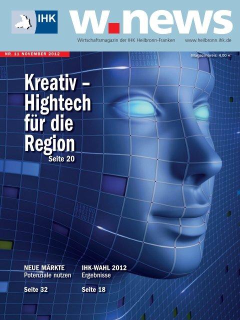 Hightech-Region Heilbronn-Franken | w.news 11.2012