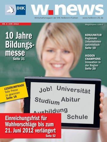 10 Jahre IHK-Bildungsmesse | w.news 06.2012