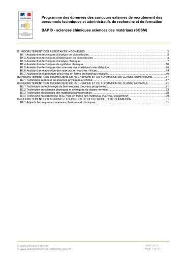 Programmes de la B.A.P. B - Ministère de l'enseignement supérieur ...