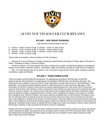 club bylaws template - Forte.euforic.co