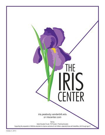 Learn more about IRIS in our informative brochure - The IRIS Center