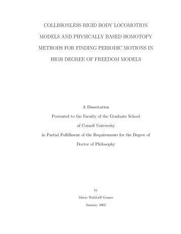 Phd Dissertation Cornell University