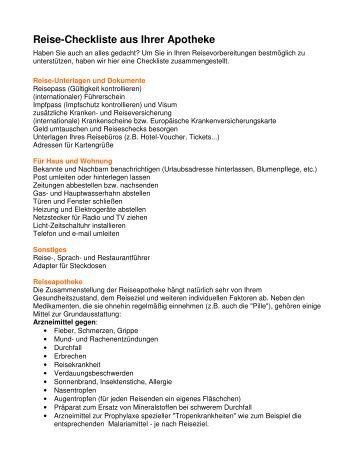 Talidomid Apotheke Checkliste