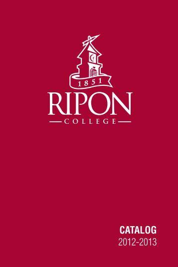 CATALOG 2012-2013 - Ripon College