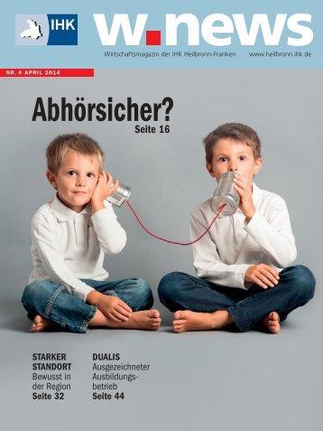 Wirtschaftskriminalität | w.news 04.2014