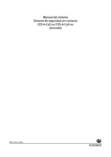 Interruptor de seguridad CES-A-C5... - EUCHNER GmbH + Co. KG