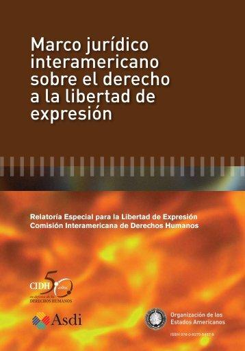 MARCO JURIDICO INTERAMERICANO DEL DERECHO A LA LIBERTAD DE EXPRESION ESP FINAL portada.doc