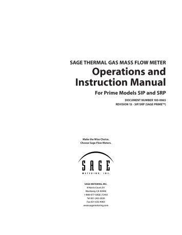 thermal mass flow meter pdf