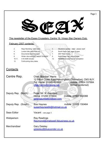 SEAX - February 2007 - Essex Crusaders