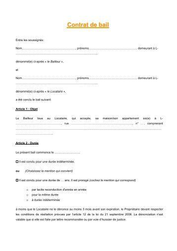 Contrat garde meubles technidem - Office des proprietaires contrat de bail type ...