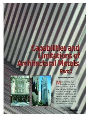 Capabilities and Limitations of Architectural Metals ... - Nickel Institute
