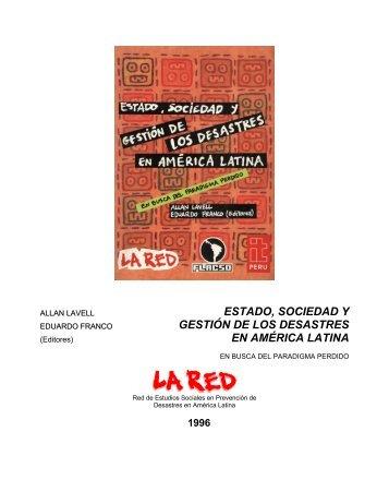 capítulo 5: atención de desastres en guatemala - La RED
