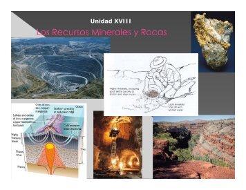 UNIDAD XVIII: Los recursos minerales y rocas