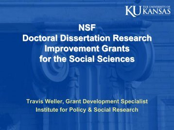 Nsf doctoral dissertation research grants