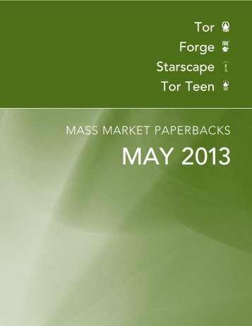May 2013 Tor / Forge Mass Market Catalogue - Raincoast Books