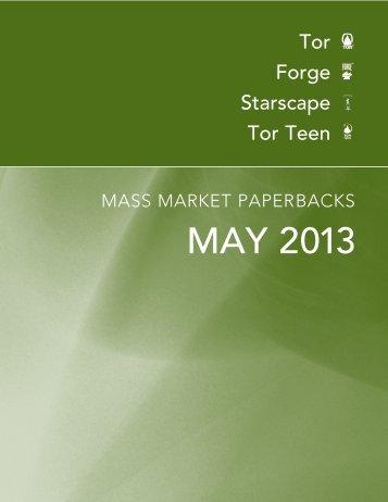 May 2013 Tor / Forge Mass Market Catalogue - Raincoast Books