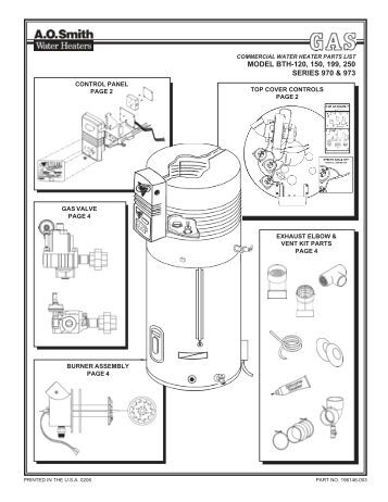 ao smith parts repair wiring and engine parts