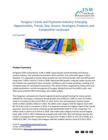 nigeria's cards and payments industry emerging (emailwirecom, november 01, 2017 ) publisher's 'the cards and payments industry in russia: emerging trends and opportunities to 2020' report provides detailed analysis of market trends in the.