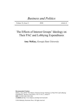 the effects of interest groups on Describe how interest groups influence the government through elections  explain how  measuring the effect of interest groups' influence is somewhat  difficult.