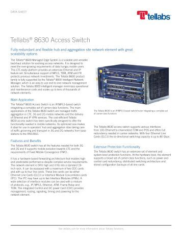 Tellabs 8630 Access Switch - Moonblink