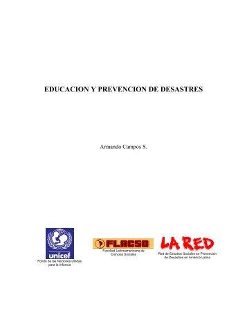 Educación y Prevención de Desastres - La RED