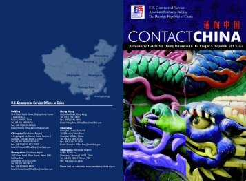 U.S. Commercial Service Offices in China - Market Access and ...