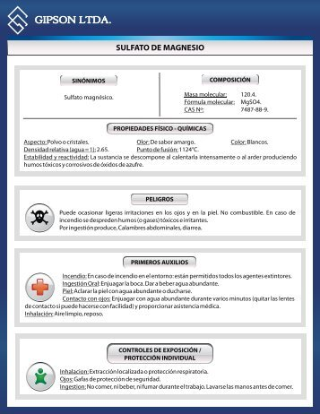sulfato de magnesio - Gipsonltda