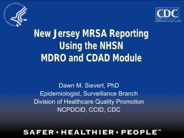 Infection Surveillance - New Jersey Learning Management Network